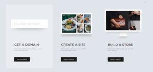 Screenshot von Squarespace Homepagebaukasten