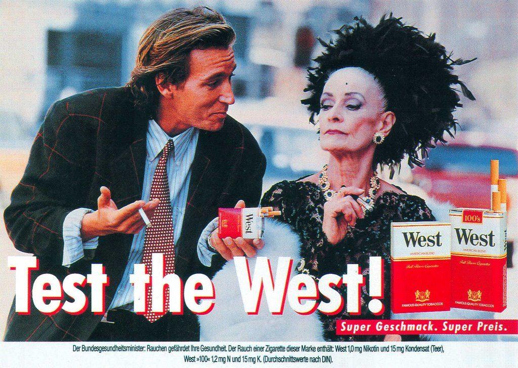 Werbekampagne von West